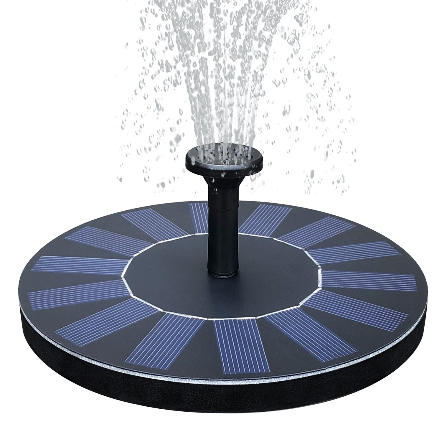 FEELLE Solar Power Fountain Pump 1.4W Solar Panel Floating Submersible Water Pump for Bird Bath, Pond, Pool, Rockery Fountain and Garden Decoration FLBDC03