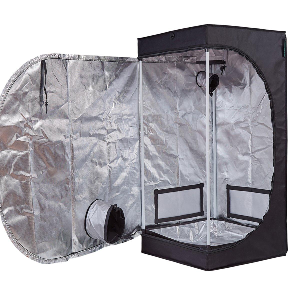 TopoGrow Multiple Sized Indoor Grow Tent 20 X20 X48 Hydroponic Plant Growing W Plastic Corners, 20 x20 x48
