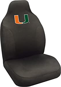 """FANMATS NCAA University of Miami Hurricanes Polyester Seat Cover,20""""x48"""""""
