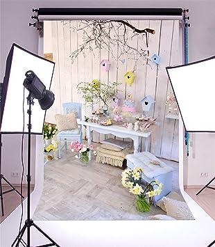 Yongfoto 2x3m Foto Hintergrund Ostern Eier Vogelkäfig Kamera