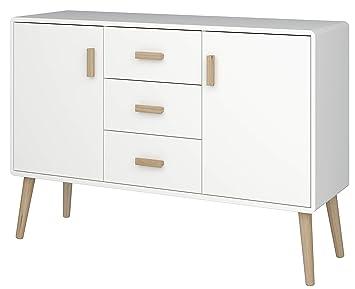 Loft24 Pascal Sideboard weiß Skandinavisches Design Kommode Schrank ...