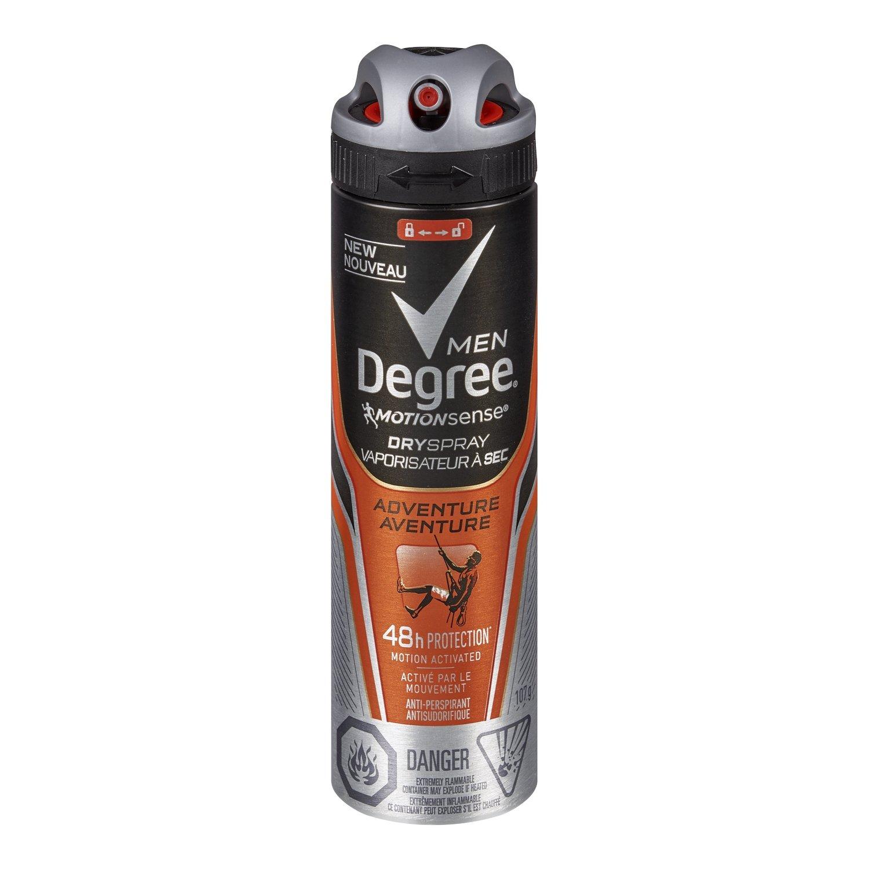 Degree Men MotionSense Adventure Dry Spray Antiperspirant 107g Unilever CA