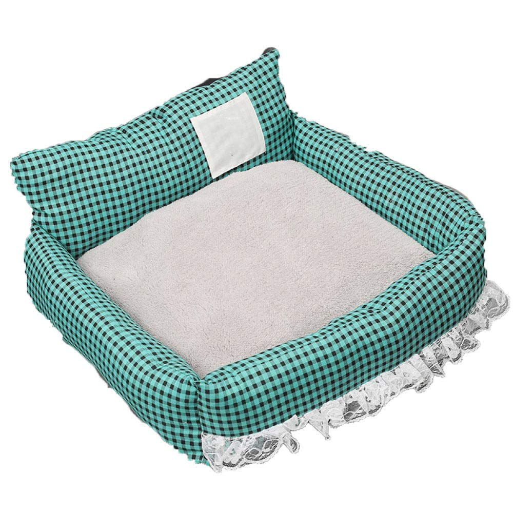 bluee 6158cm bluee 6158cm Premium Dog's Bed, Soft Mat Non Slip Washable Cushion Pet Orthopedic Pad Sleeping Mattress Puppy Crate Cages Car Seat Cover (color   bluee, Size   61  58cm)