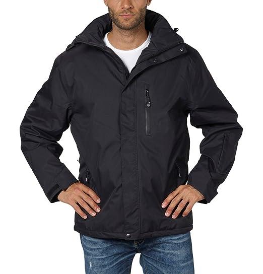 Fifty Five para Hombre 3-in-1 Chaqueta Alaska - Chaqueta Impermeable para Hombre, Hombre, Color Negro, tamaño XXXXX-Large: Amazon.es: Ropa y accesorios