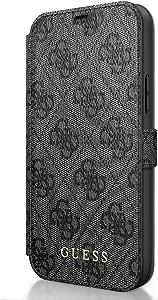 Guess Book Case 4G Grey, für iPhone 12/12 Pro, GUFLBKSP12M4GG