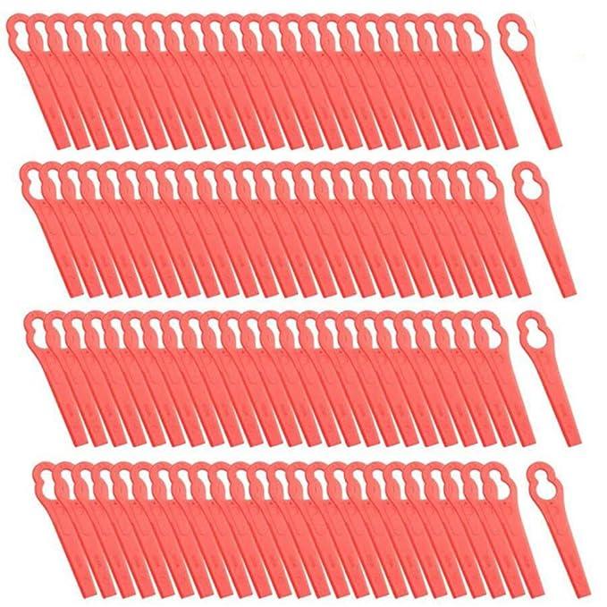 100 cuchillas de plástico para cortacésped de repuesto para ...
