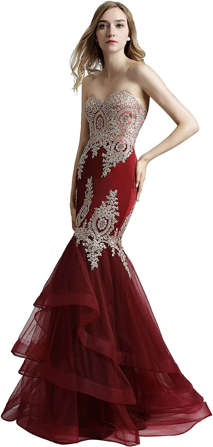 Belle House Womens Long Mermaid Evening Gowns Sexy Prom Dresses