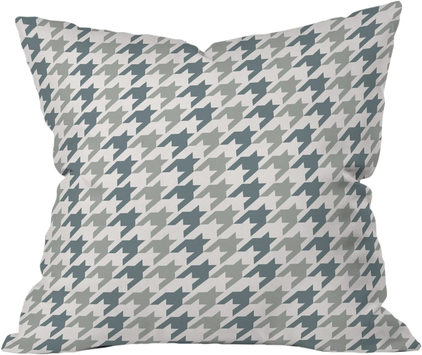 Amazon Com Deny Designs Allyson Johnson Classy Blue Houndstooth Throw Pillow 20 X 20 Home Kitchen