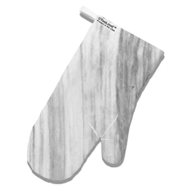 TOOLOUD White Marble Pattern White Printed Fabric Oven Mitt All Over Print