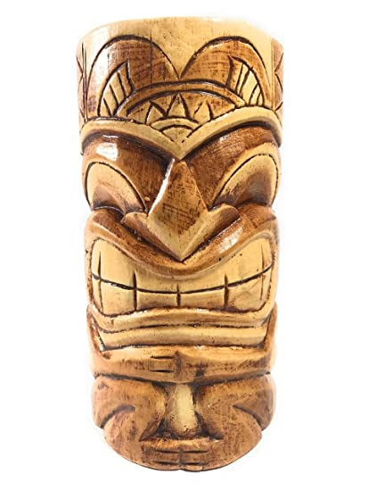 "CARVED TIKI MASK 8"" - LOVE TIKI - HAWAIIAN GIFTS: Amazon.in: Home & Kitchen"