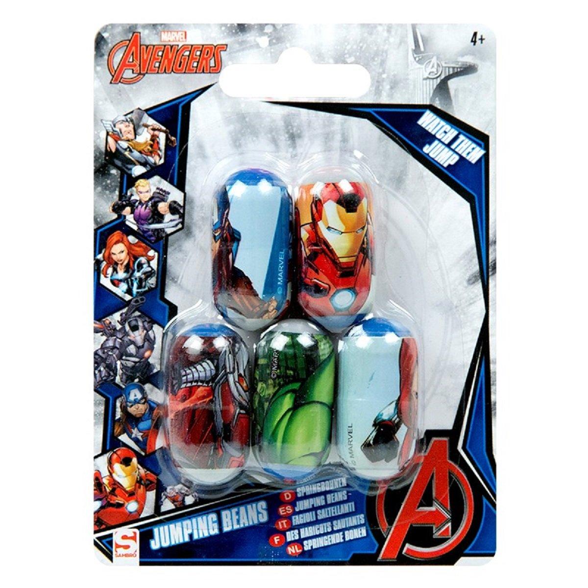 Marvel Avengers 5 Jumping Beans Avenger Iron Man Captain America Hulk Boys Gift