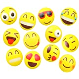 Emoji Smiley Face Squeeze Stress Ball - 24 Pack Stressballs