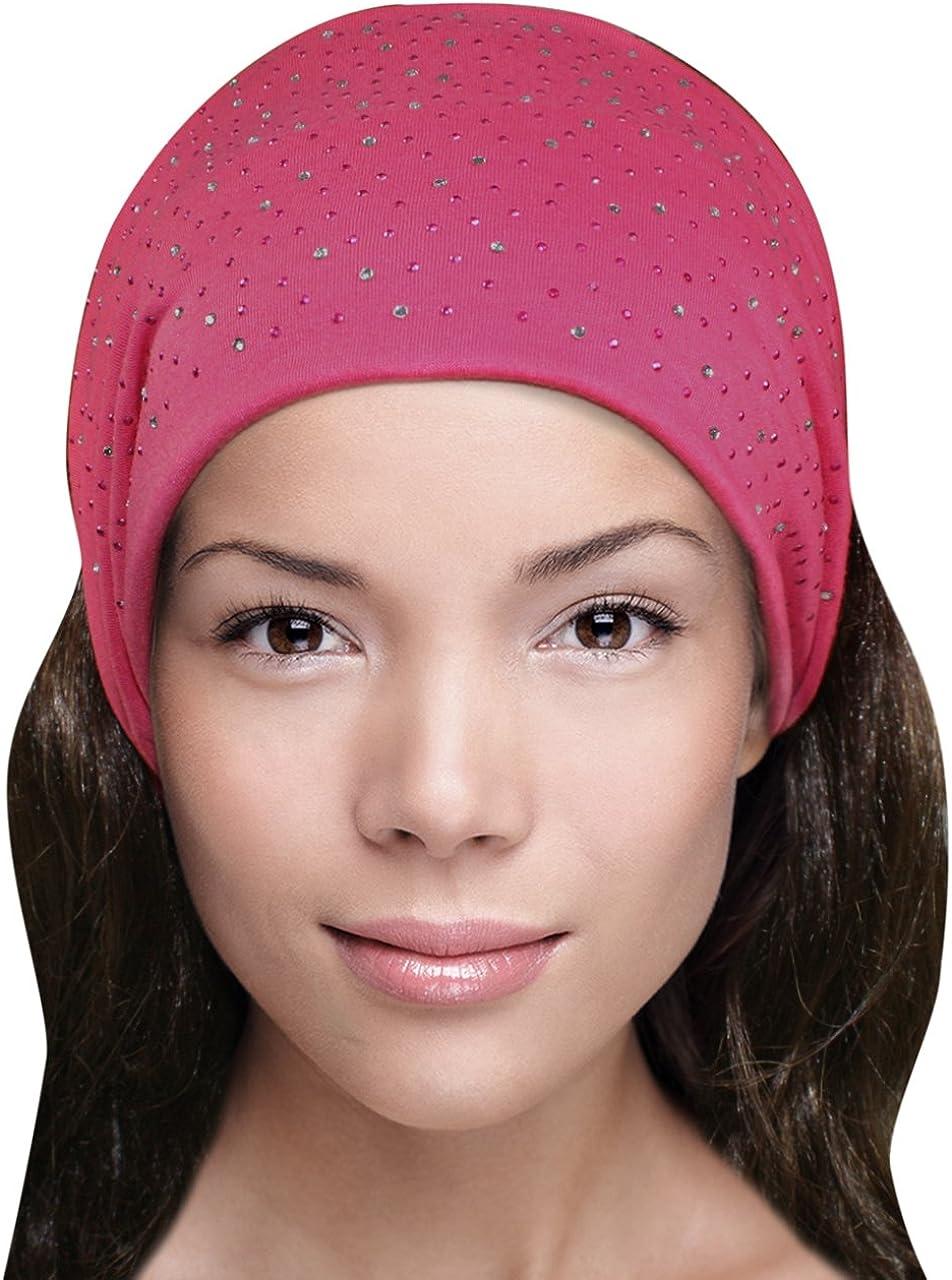 Dahlia Sparkling Rhinestone and Dots Wide Elastic Headband