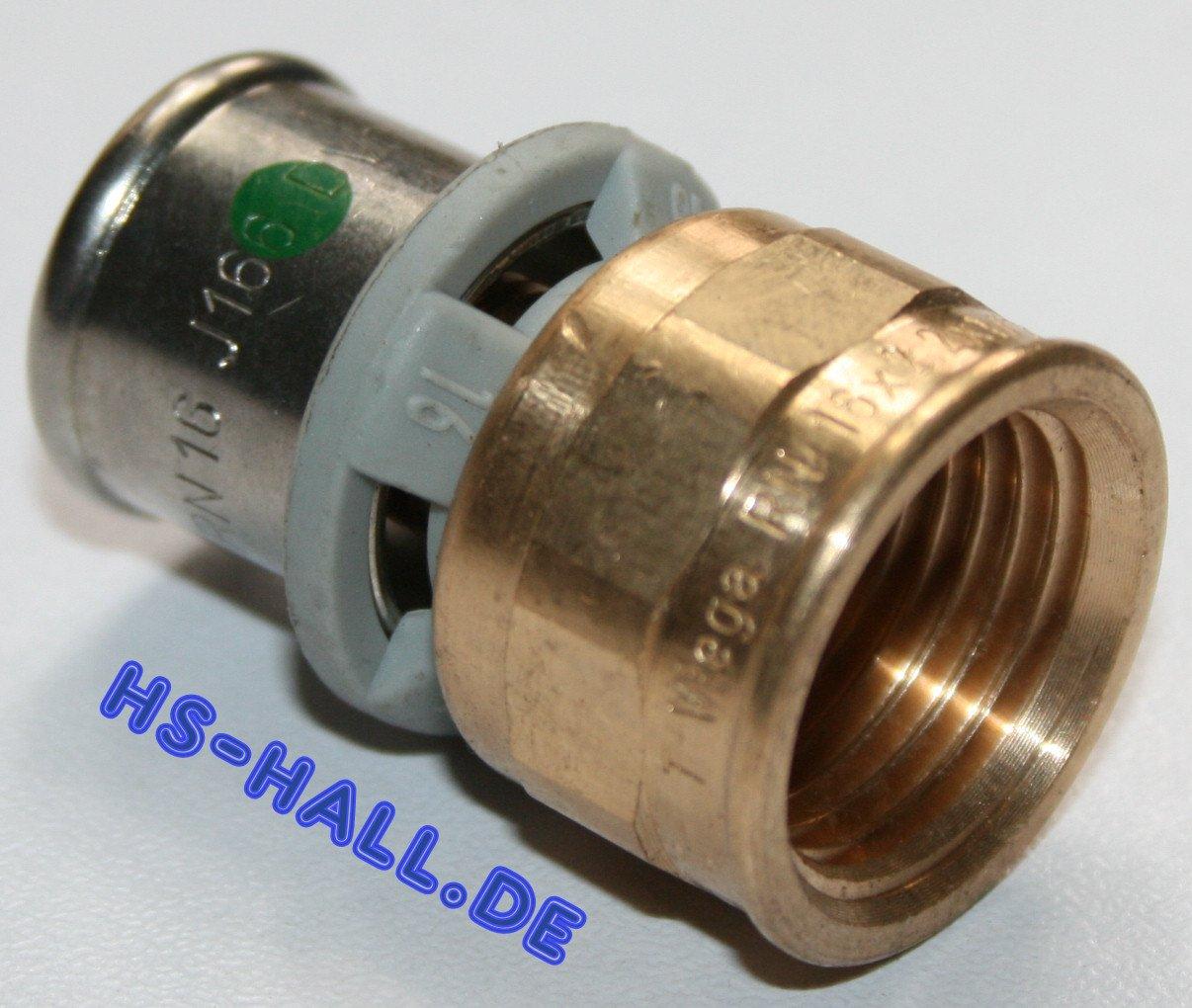 "Viega Sanfix P Fosta  Übergangsmuffe 25mm x 3//4/"" IG  Pressfitting Übergangsstück"