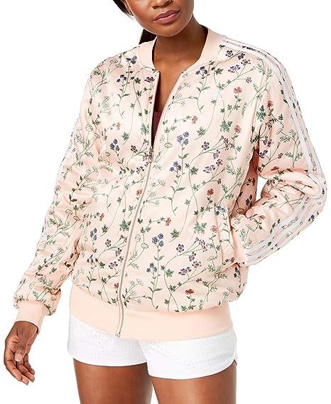 6ef3e57ad Amazon.com: adidas Originals Reversible Floral Print Bomber Jacket ...