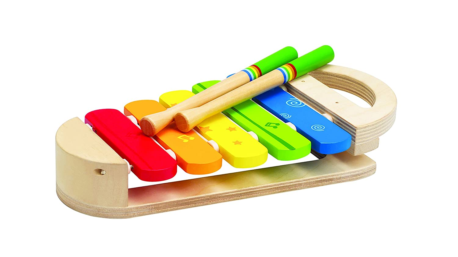 Hape Rainbow Xylophone Toddler Wooden Musical Instrument