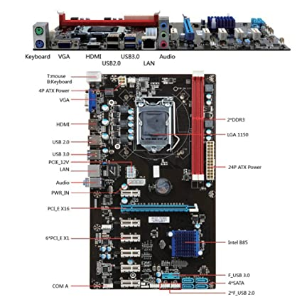 Amazon.com: Adealink 6 GPU H81 Mining Motherboard PCI-E ...