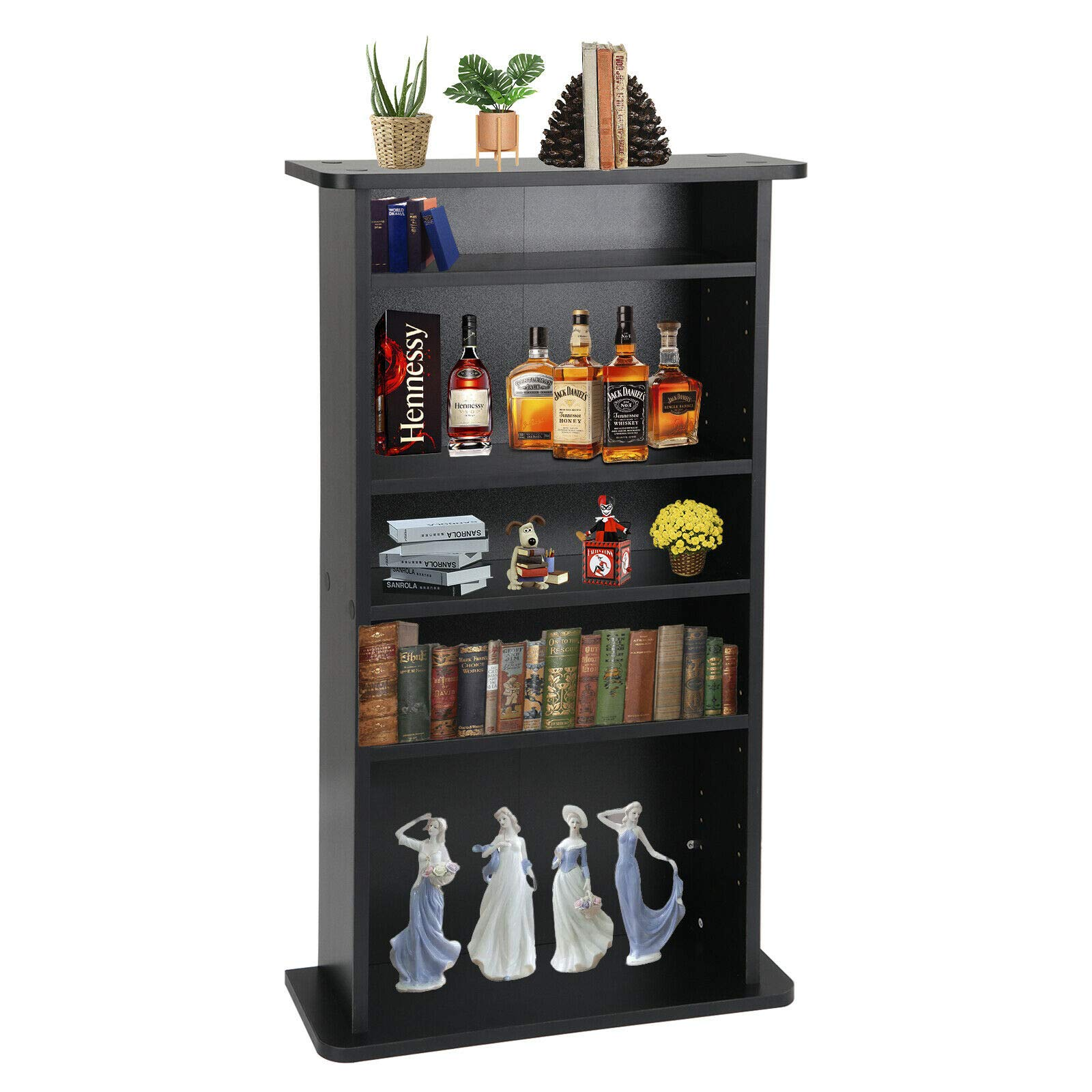 PloybeeShop Height DVD CD This Media Cabinet Storage Adjustable 5 Layers Stand Free Standing 36'' by PloybeeShop (Image #3)