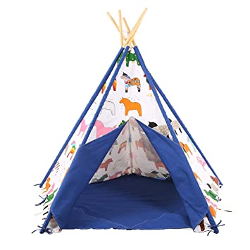 Pericross® Children Teepee Tent 5 Sides Kids Play Tent Indian Tent for Kid Indoor Play  sc 1 st  Amazon UK & Pericross® Children Teepee Tent 5 Sides Kids Play Tent Indian Tent ...