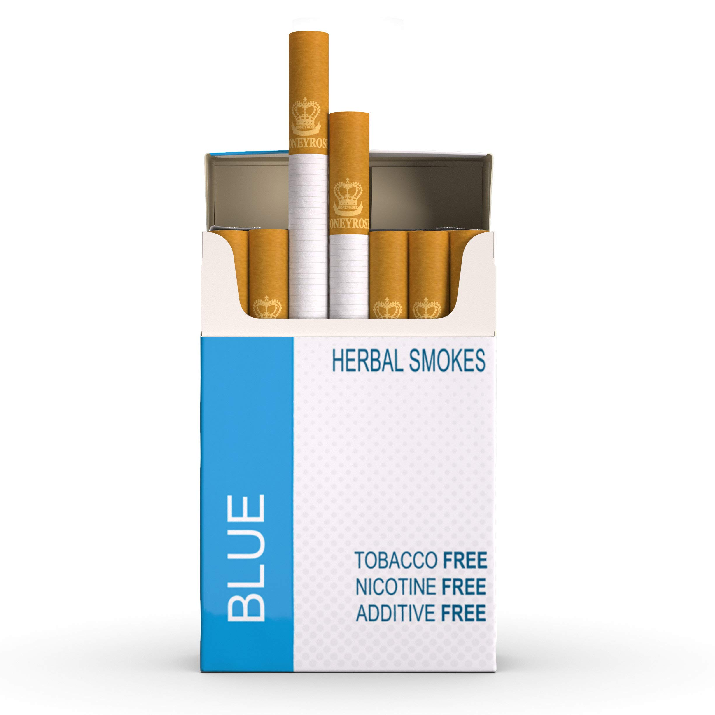 Honeyrose Blue - Tobacco & Nicotine Free Herbal Cigarettes, Made in England