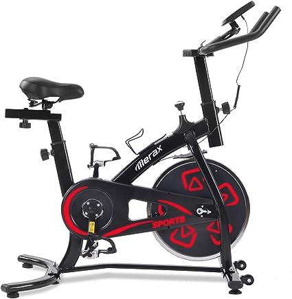 Bicicletas Estáticas de Spinning Ajustables Bicicleta Fitness Pantalla LCD, Bicicleta de Ejercicios Aeróbicos Sport para Interiores Entrenamiento Ejercicios Cardiovasculares [EU Stock] (Rojo): Amazon.es: Deportes y aire libre