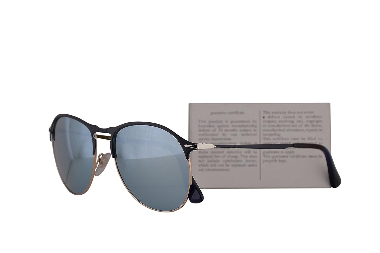 67d7411aab Persol PO7649S Sunglasses Blue Bronze w Light Green Mirror Silver Lens 53mm  107330 PO 7649-S PO7649-S PO 7649S  Amazon.co.uk  Clothing