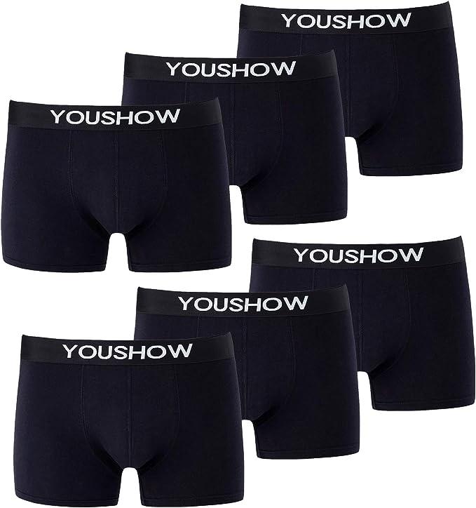 YouShow Bóxer para Hombre Pack de 6 Calzoncillos Ropa Interior ...