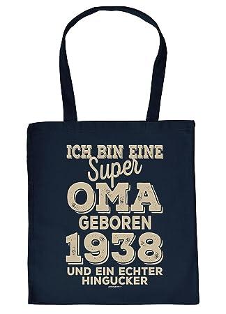 Geschenk Zum 81 Geburtstag Stofftasche Ich Bin Eine Super Oma