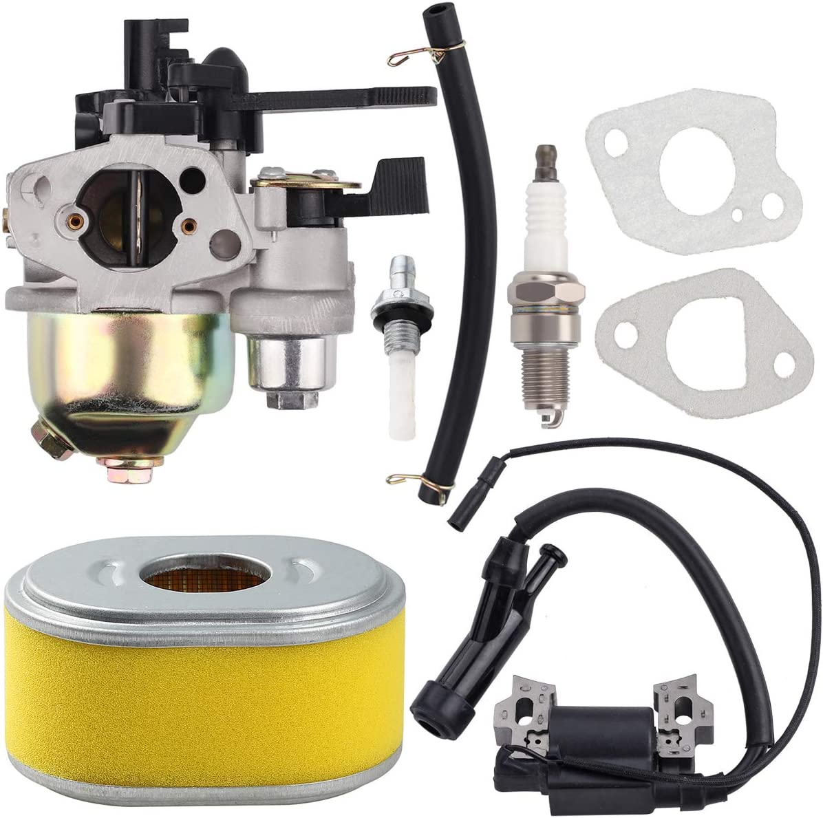 Hipa Carburetor with Air Filter Ignition Coil Tank Joint Filter for Honda GX110 GX120 Engine