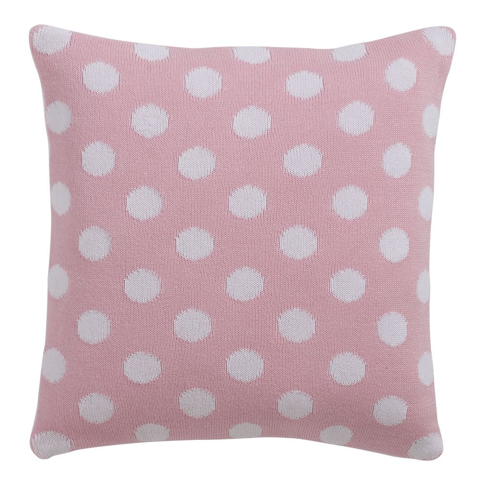 Ethan Allen | Disney Dotty Knit Pillow, Petal Pink by Ethan Allen