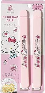 Sanrio Hello Kitty Plastic Sealing Clips Food Snack Bag 17.3cm 2pcs set Kitchen (Popcorn)