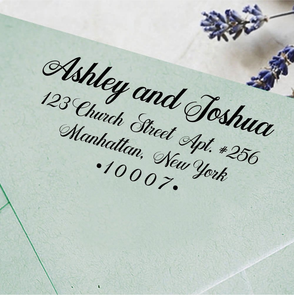 Custom Self Inking Wedding Stamp Personalized Family Address Rubber Stamp Custom Gift Printtoo