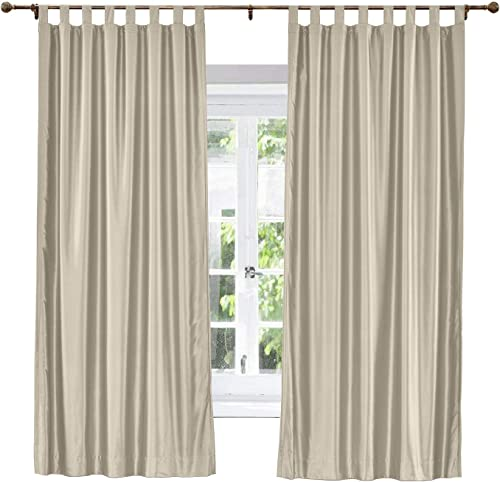 ChadMade Elegant Vintage Polyester Cotton Silk Thermal Insulated Curtain Dark Grey 120″ W x 102″ L