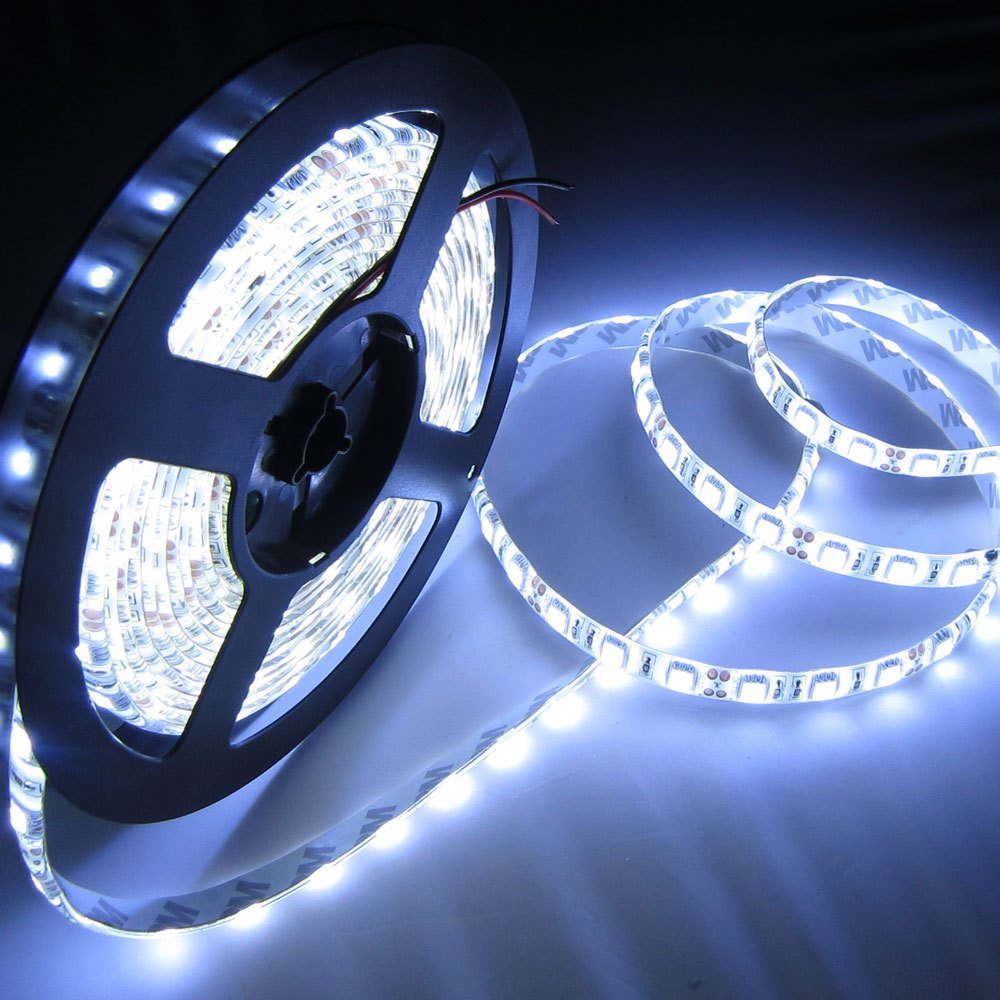 Buy amicikart waterproof smd 3528 led strip lights 5 meter dc buy amicikart waterproof smd 3528 led strip lights 5 meter dc 12v adapter led dimmer controller cool white online at low prices in india aloadofball Image collections