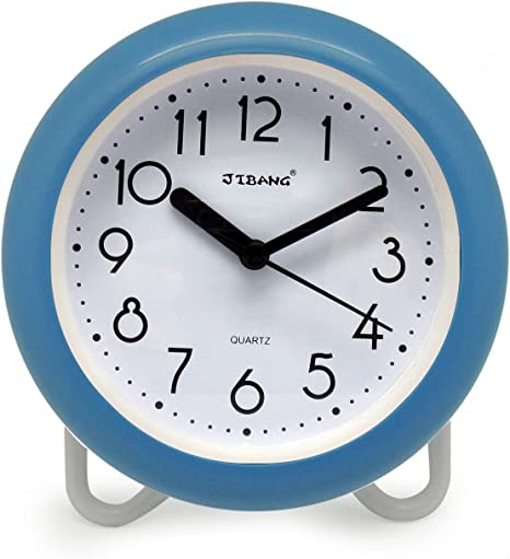 Amazon Com Jibang Waterproof Bathroom Clock Desktop Clocks For Bathroom 7 Inches Silent Non Ticking Prevent Mist Wall Blue Home Improvement