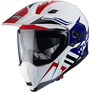 Caberg Xtrace Lux Weiß Rot Blau MX Helm Motocross Enduro Pinlock Schild Visier, C2MB00D6,