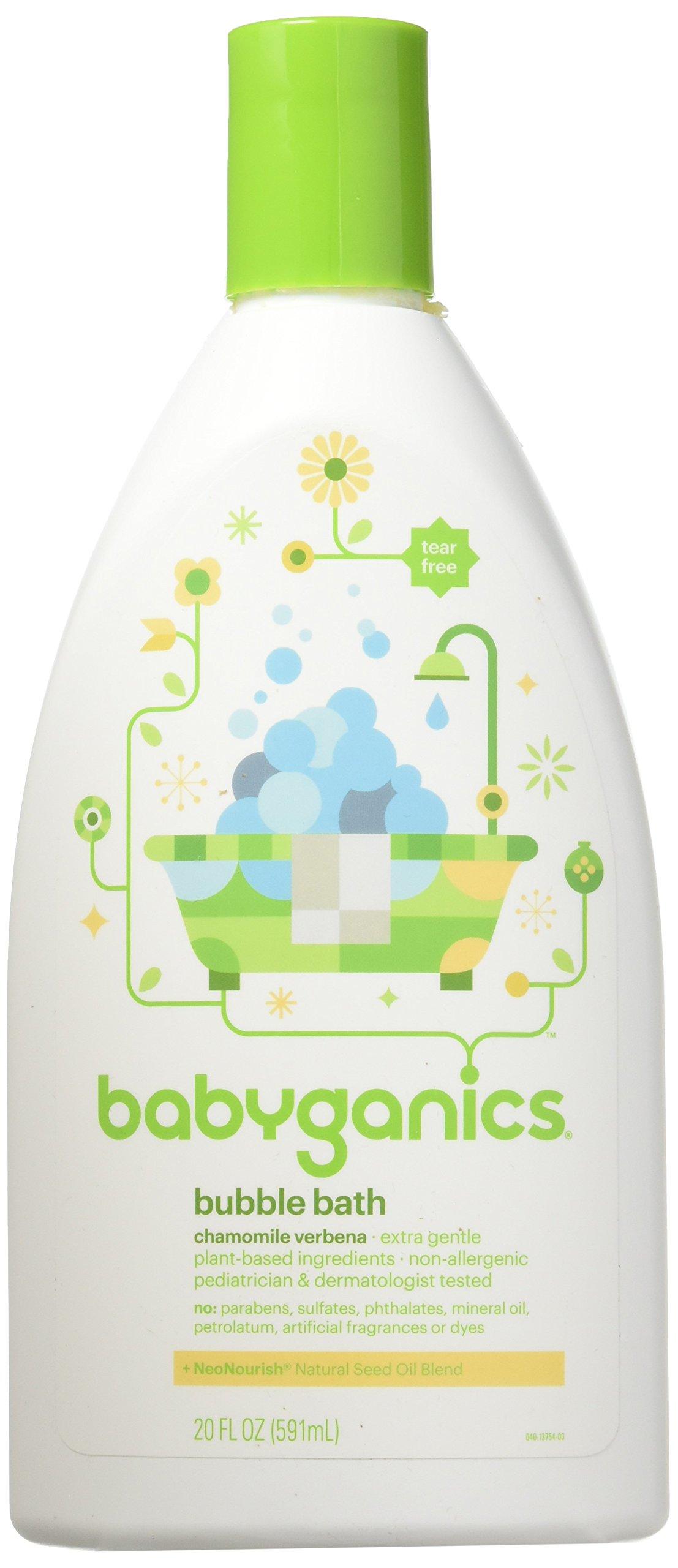 Babyganics Bubble Bath Chamomile Verbena 20 oz (Pack of 2) by Babyganics