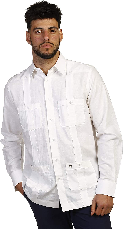 THE TIME OF BOCHA Camisa de Hombre Blanca Cubana JV1CUBANA-101 Talla XL: Amazon.es: Ropa y accesorios