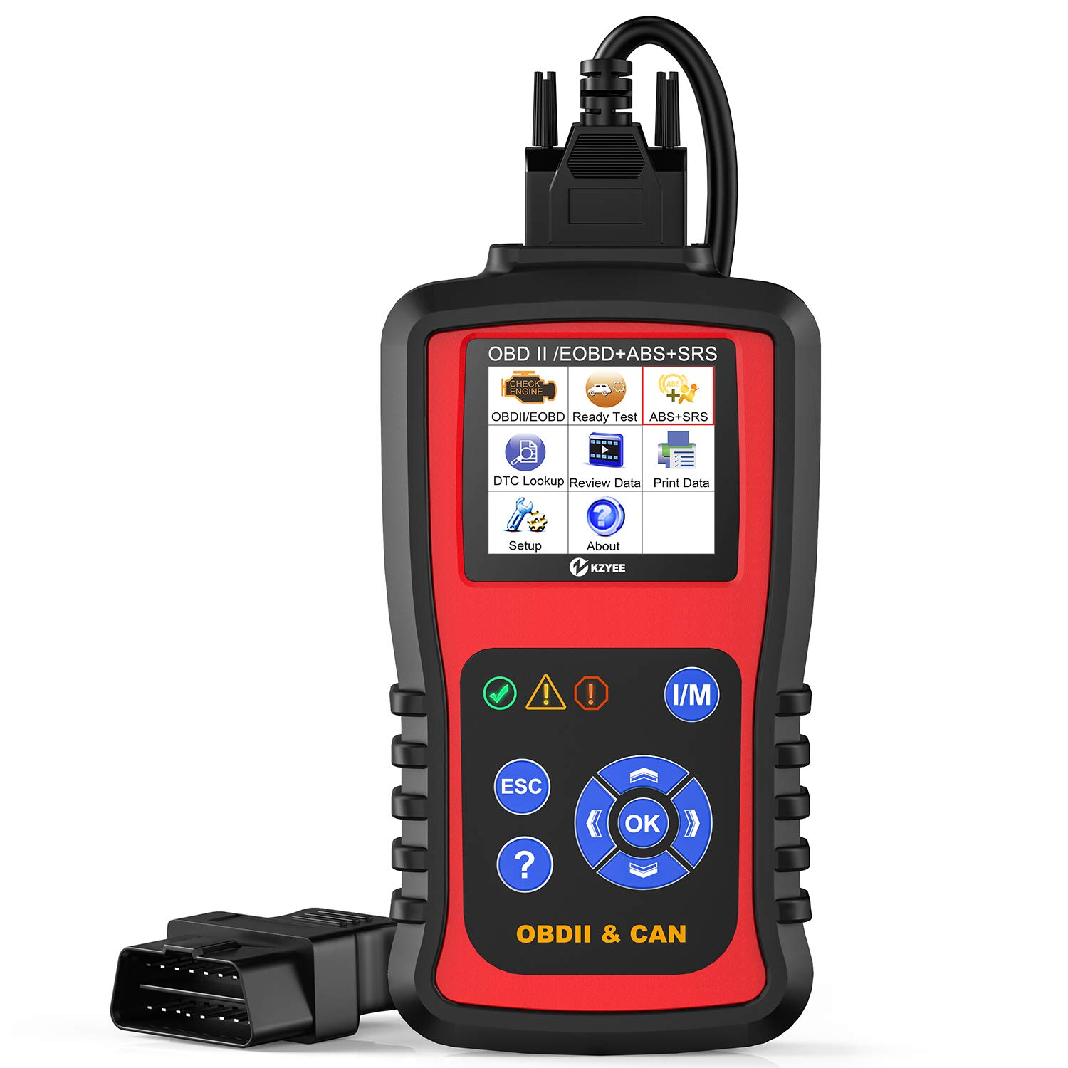 Kzyee KC501 OBD2 Code Reader ABS SRS Airbag OBDII EOBD Automotive  Diagnostic Scanner 11 Modules Check Trouble Codes for Diesel or Gasoline  Engine Vehicles Especially Most SUV Cars: Amazon.in: Car & Motorbike