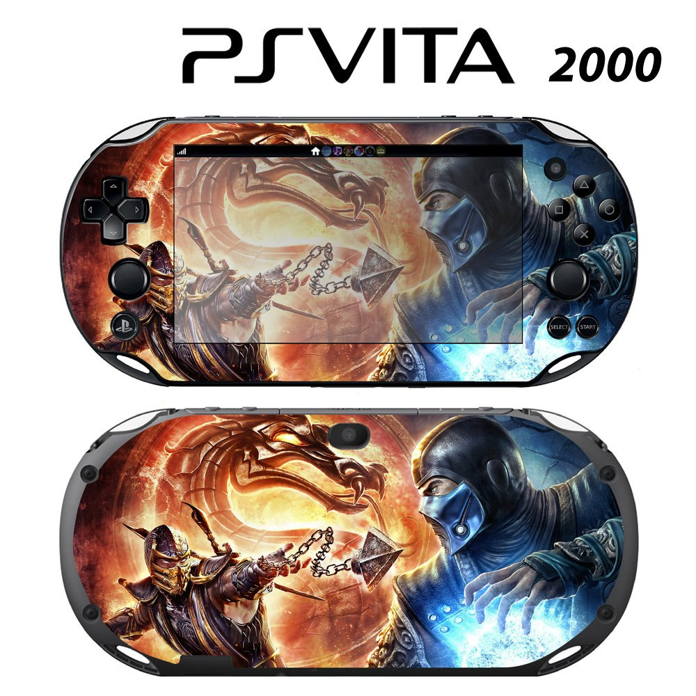 Decorative Video Game Skin Decal Cover Sticker for Sony PlayStation PS Vita Slim (PCH-2000) - Mortal Kombat