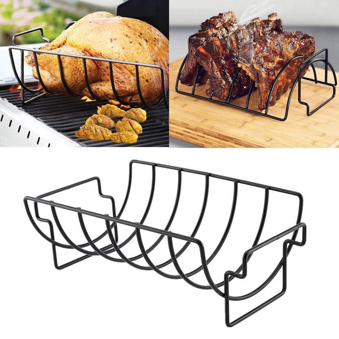 Kongqiabona Rib Rack Home Restaurant Rib Rack Anti-Adh/ésif Griller Barbecue Stand De Poulet Et Boeuf