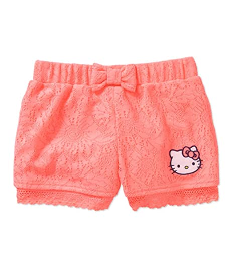 10b405df51 Amazon.com: Hello Kitty Girls' Lace Shorts With Lace Trim and ...