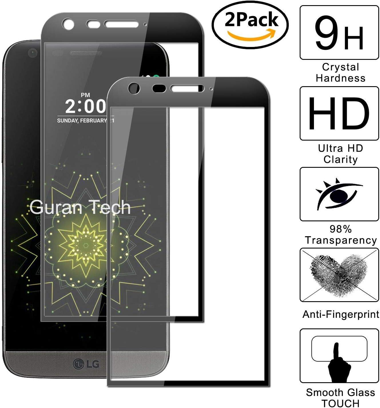 Guran [2 Unidades] Protector de Pantalla Vidrio Cristal Templado para LG G5 Smartphone Glass Vidrio Templado Film (9H, 2.5D Edge, 0.3mm): Amazon.es: Electrónica