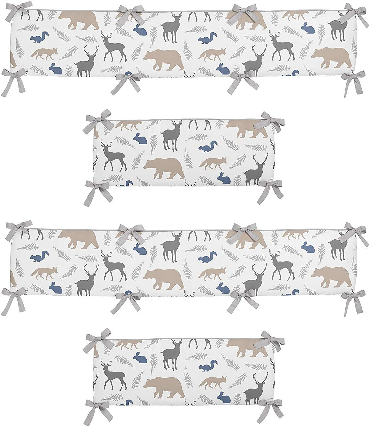 Sweet Jojo Designs 2-Piece Crib Bumper for Woodland Animals Collection [並行輸入品]