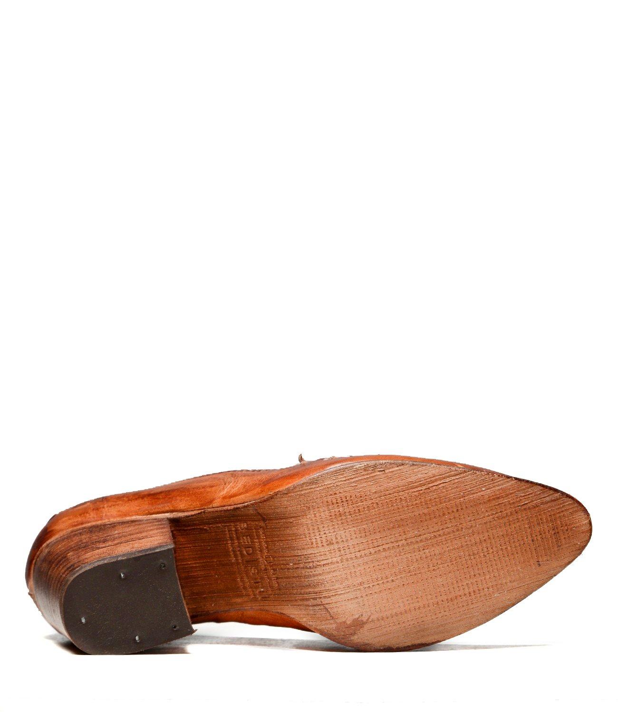 Bed|Stu Women's Leeds Leather Wedge & Heel B07B39K48K 9 B(M) US|Cognac Dip Dye