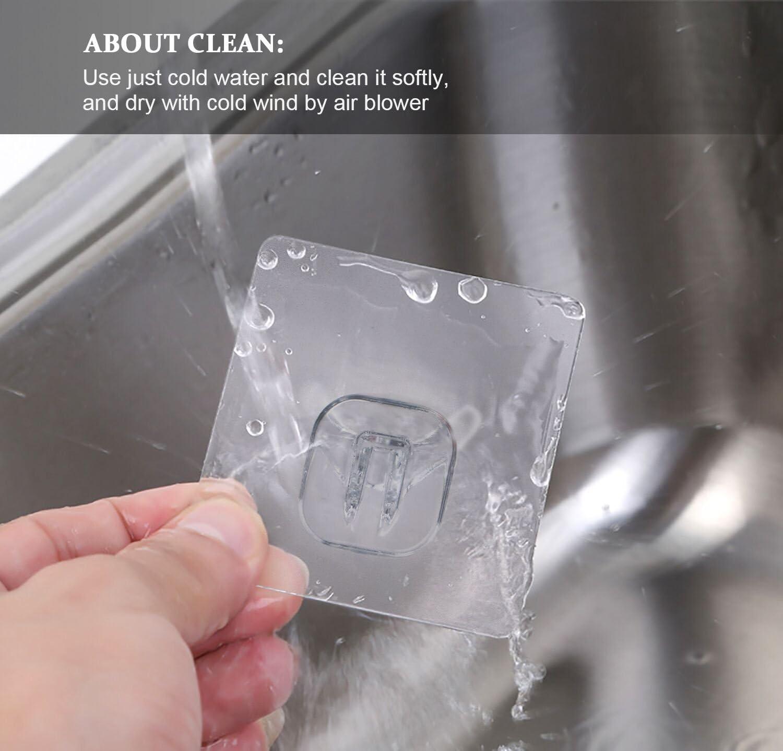 Quntis® - Gancho Fuerte de Pared [3 Unidades] Ganchos Sin Quedar Huellas, Transparente Plástico, Ganchos Autoadhesivos, Ideal para Baño Cocina Ducha Ventana: Amazon.es: Hogar