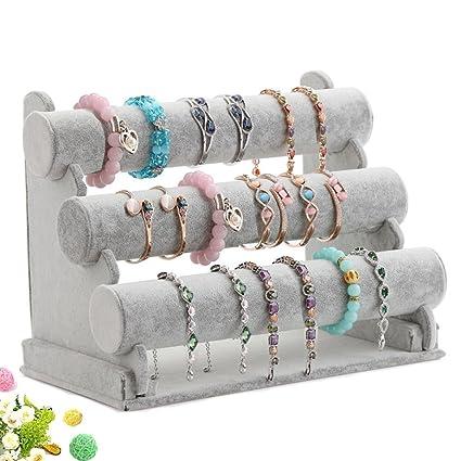 Amazoncom Wuligirl Triple Bracelet Holder Jewelry Display Stand
