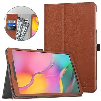 Dadanism Compatible con Samsung Galaxy Tab A 10.1 2019 Tablet (SM-T510 / SM-T515) Funda, Suave Protector de PU Cuero con Ranura para Tarjeta Case ...