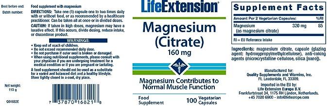 Life Extension Magnesium (Citrate) 160Mg 100 vegetarian capsules: Amazon.es: Salud y cuidado personal