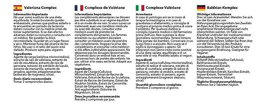 Valeriana Complex - 360 comprimidos - Hasta 6 meses de suministro - Complejo de Valeriana para favorecerla relajación y ayudar a dormir - SimplySupplements: ...
